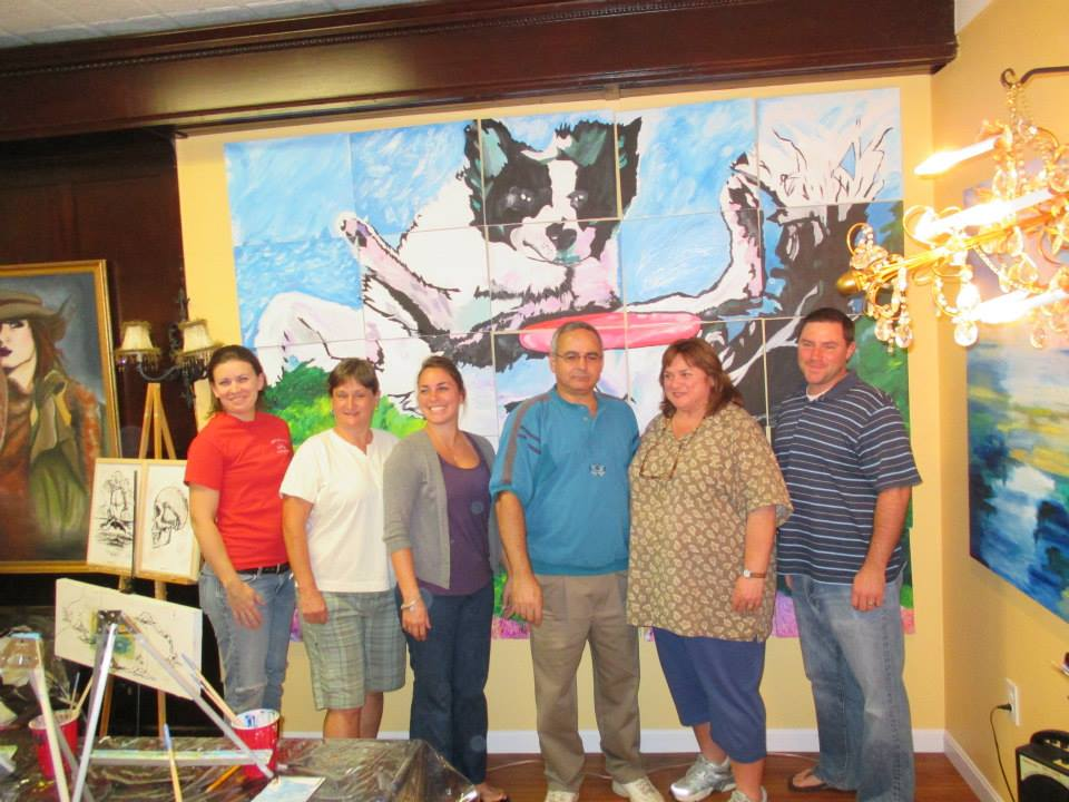 Paint for the Dogs Benefit at Antidote a success!