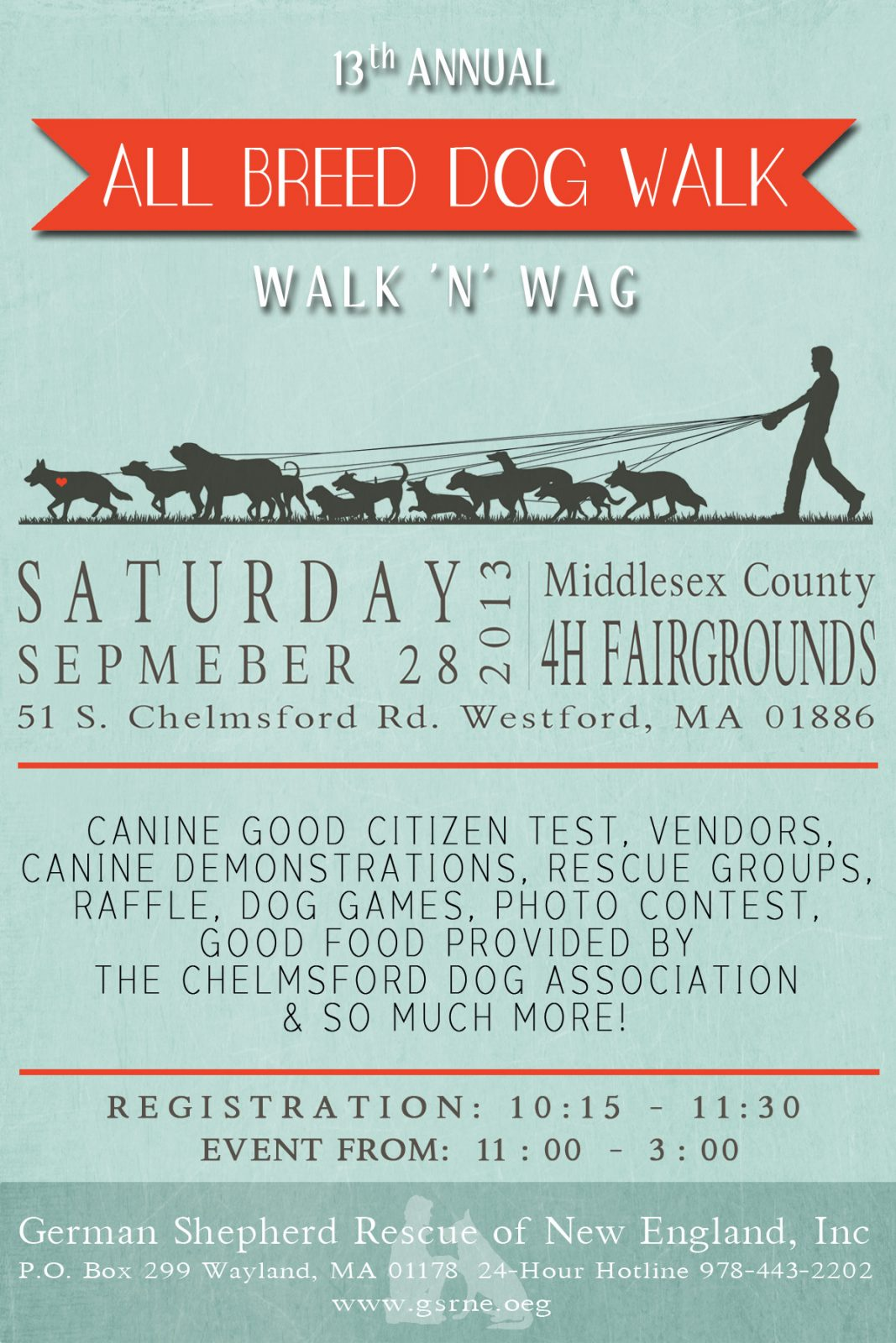 13th Annual Walk 'n' Wag  All Breed Dog Walk Fundraiser