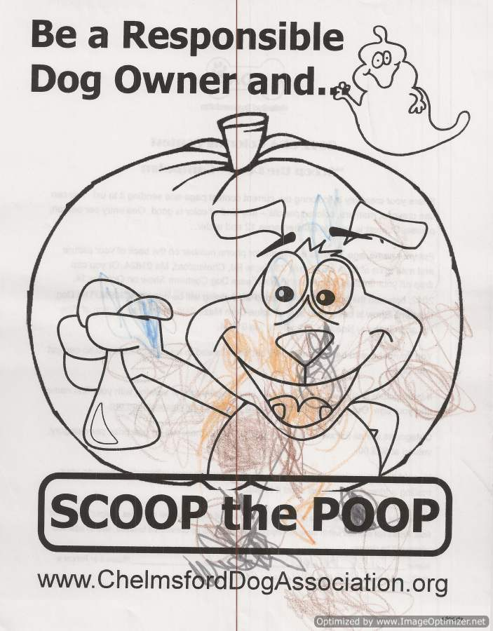 Howl\'ween 2012 – Coloring Contest – Chelmsford Dog Association