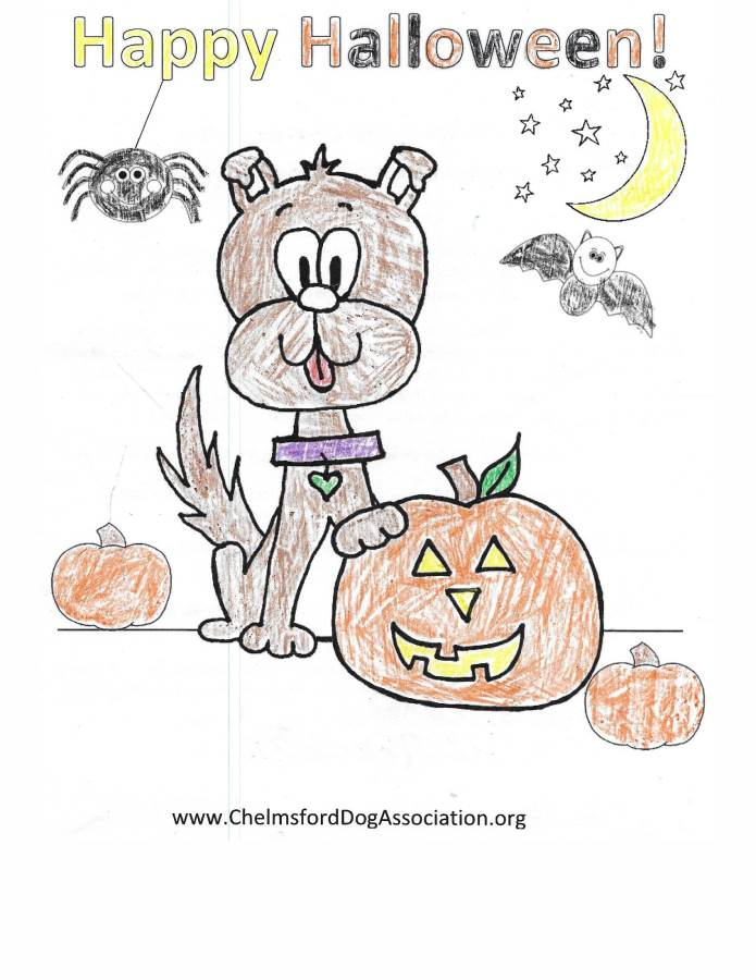 Howl\'ween 2016 – Coloring Contest – Chelmsford Dog Association