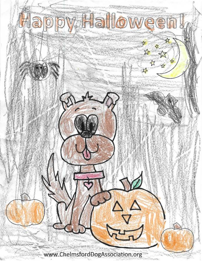 howl ween 2016 coloring contest chelmsford dog association